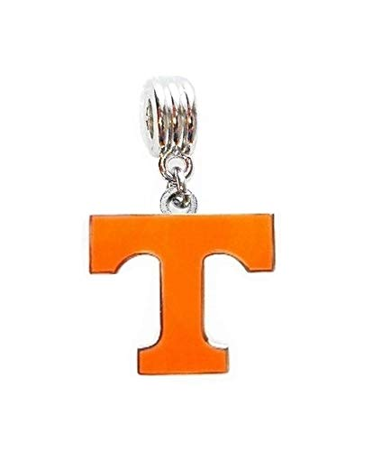Heavens Jewelry UT University of Tennessee Vols Team Charm Slider Pendant for A Necklace European Bracelet DIY Projects ETC (Fits Most Name Brands) - Enamel Tennessee Volunteers Charm