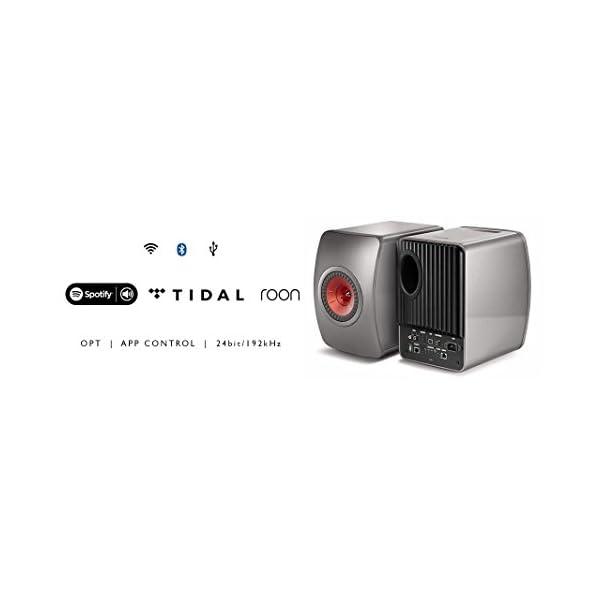 KEF LS50 Wireless - Enceinte sans Fil - Titane | Enceintes Actives | HiFi | Airplay 2 Enceintes | Spotify Connect, Tidal | LS50 système de Musique Active et système stéréo 3