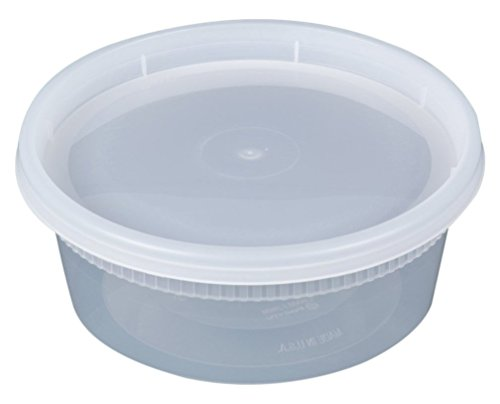 Newspring YL2508 DELItainer Clear Round Deli Container Combo Pack 240/CS, 8 oz