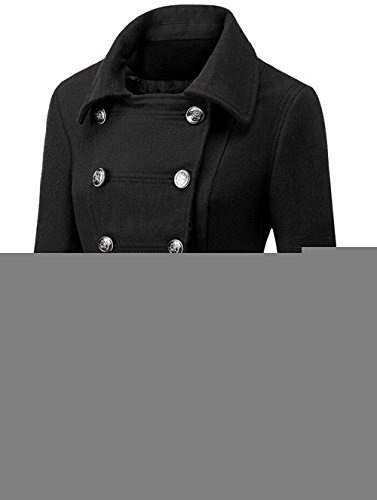 Pink Girls Womens Double Breasted Classic Pea Coat Jacket