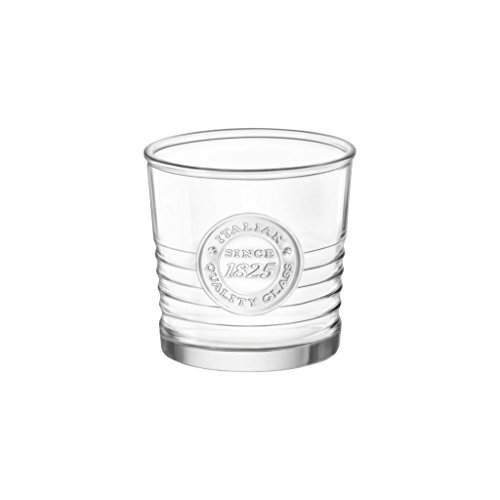 (Bormioli Rocco Officina1825 Water Glass - 10.25 oz - 4 Piece Set, Clear)