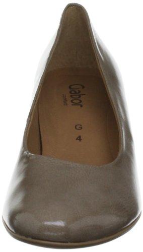 Gabor Beautiful Patent - zapatos de tacón de charol mujer marrón - beige