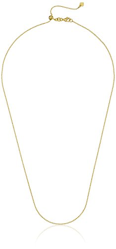 Adjustable Gold over Silver Ball Chain Necklace adjusts from 16