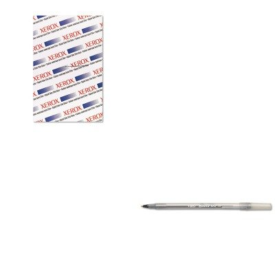 KITBICGSM11BKXER3R11451 - Value Kit - Xerox Digital Color Elite Gloss (XER3R11451) and BIC Round Stic Ballpoint Stick Pen (BICGSM11BK)