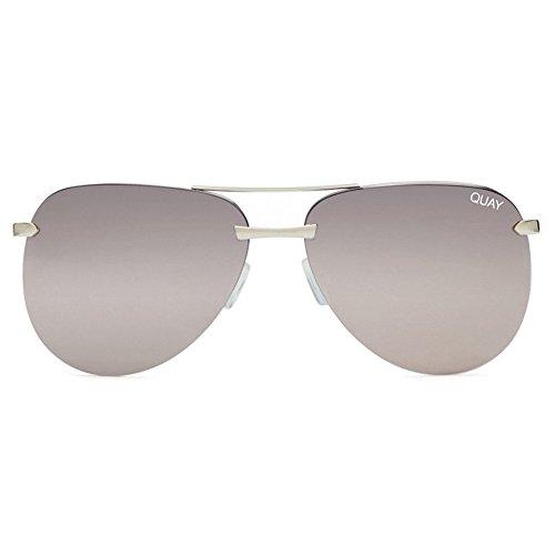 Quay The Playa Sunglasses | Aviator Mirror Lens | UV Protection (Silver/Silver Mirror, - Sized Medium Sunglasses Aviator