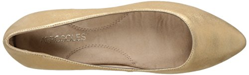 Aerosoles Leather Flat Hey Girl Ballet Gold Women's rPfgTr