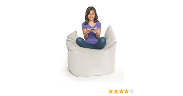 Stupendous Amazon Com Solo Jr Beanbag Chair Color Grey Velvish Gamerscity Chair Design For Home Gamerscityorg