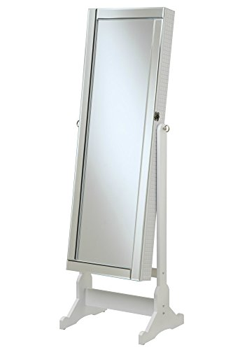 Cheval Mirror Jewelry Armoire Tilting Full Length Floor