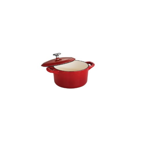 (Tramontina Enameled Cast Iron Covered Small Cocotte, 24-Ounce, Gradated Red)