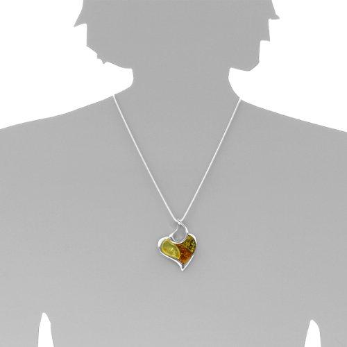 InCollections - 0010204114780 - Pendentif Femme - Argent 925/1000 - Ambre