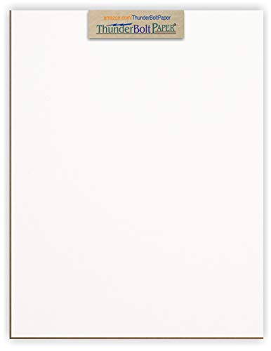10 Sheets Chipboard 32pt white 1 side - 8.5