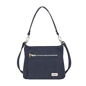 Travelon Anti-Theft Heritage Hobo Bag, Indigo, 11.5 X 9.5 X 3