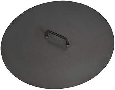 DS Exklusive Feuerschale Handmade Quality Abdeckung 100 cm Feuerstelle in 4 Gr/ö/ßen und Zubeh/ör wie Abdeckung Grillplatte Funkenschutz
