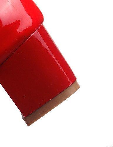 GGX/ Damenschuhe-High Heels-Büro / Lässig-Lackleder-Blockabsatz-Absätze / Spitzschuh-Schwarz / Rot / Weiß red-us6.5-7 / eu37 / uk4.5-5 / cn37