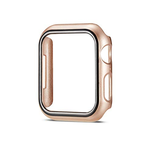 SMEECO Compatible with Apple Watch Case for 40mm Series 4 iWatch PC Protector Apple Watch Cover Nike+,Sport, Edition Champagne Gold