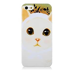 ZXM-Modelo del gato Caso de silicona suave para iPhone5/5S