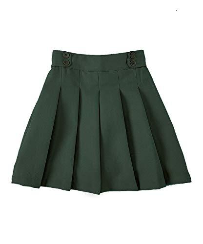 unik Girl Pleated Uniform Skirt Scooter Size 5-16 Navy Khaki Plaid