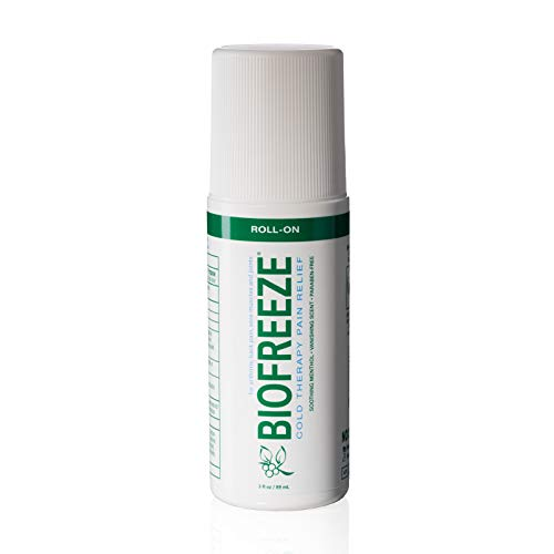 Biofreeze Pain Relief Gel, 3 oz. Roll-On, Fast Acting, Long Lasting, & Powerful Topical Pain Reliever