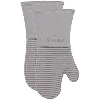 All-Clad Textiles PAC2SOM01 Oven Mitt, 2 Pack, Titanium