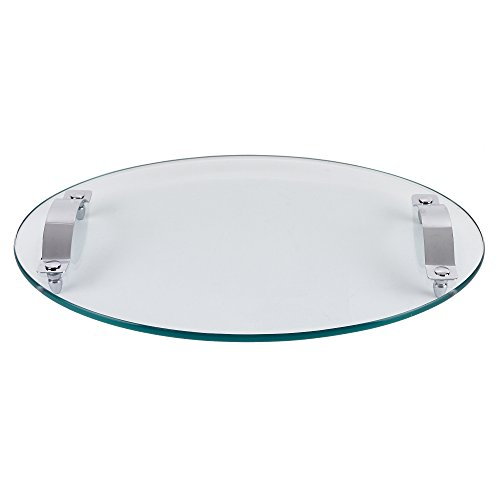 Contempo Oval Thick Glass Tray 17 x 12 By Badash ()