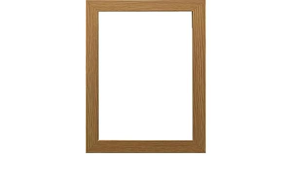 Marco de fotos moderno, con acabado de madera, en varios tamaños, madera MDF, marrón, A4(297x210)mm: Amazon.es: Hogar