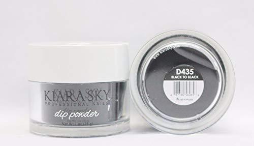 Kiara Sky Dip Powder, Black To Black, 1 Ounce