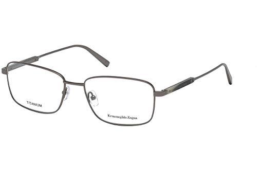 (Ermenegildo Zegna EZ5063 Eyeglass Frames - Shiny Gun Metal Frame, 56 mm Lens Diameter EZ506356008)