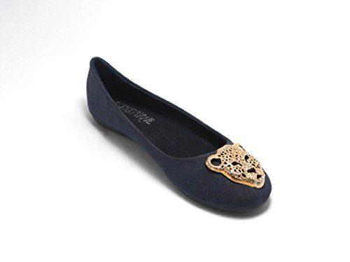 Sfiziosa Women's Ballet Flats Black black 4 Blue Size: 4 MYgLajWFIf