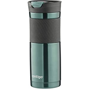 Contigo 20 ounce Stainless Steel Vacuum Insulated Snap Seal Travel Mug Water Bottle with Comfortable Grip- Vivacious