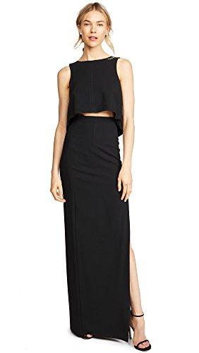 Black Halo Women's Kacie 2 Piece Maxi Dress, Black, 2