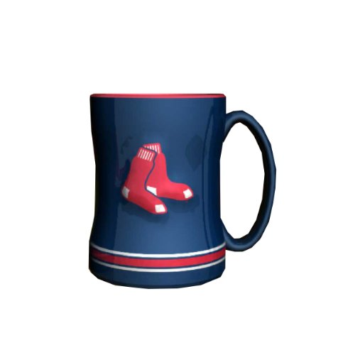 - MLB Boston Red Sox Sculpted Relief Mug, 14-ounce