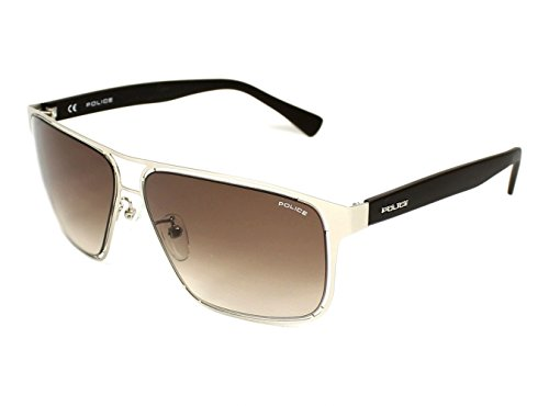 Police Men's S8955M 600581 Rectangular Sunglasses, Matte Palledium Brown & Gradient Brown, 60 - Police Usa Sunglasses