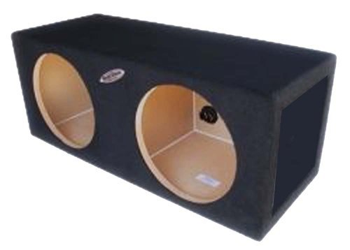 Ground Shaker S212 12-Inch Dual Sealed Enclosure Subwoofer Box with Divided Chambers
