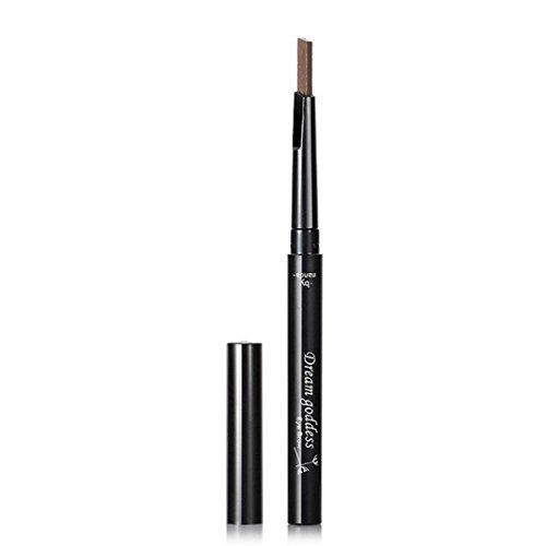 Fullkang Waterproof Eyebrow Pencil Pen Eye Brow Liner Cosmetic Makeup Lasting (Light Coffee)