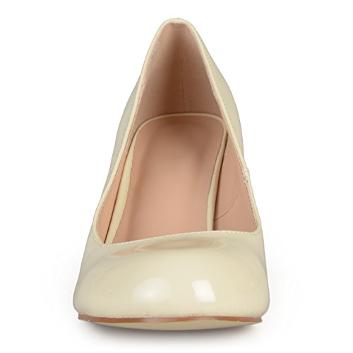 Journée Collection Mujeres Classic Charol Faux Leather Pumps Beige 6.5