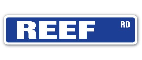 REEF Street Sign coral scuba diving snorkle gift