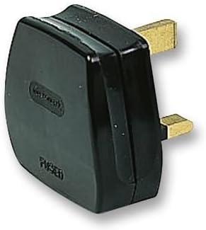 PRO-ELEC? 13 A UK Mains Plugs, 3 A Fusible, Negro (Caja de 20 ...