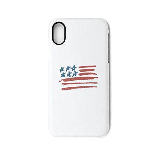 (Hiunisyue iPhone X Case iPhone Xs Case Vintage American Flag Shock Absorption Technology Bumper Soft TPU Cover Case for iPhone X/XS)