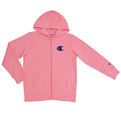 Champion Girls Heritage Big C Logo Hoodie (X-Large, Pink Bow)