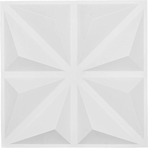 Ekena Millwork WP20X20BIWH Bailey Design Decorative 3D Wall Panel White