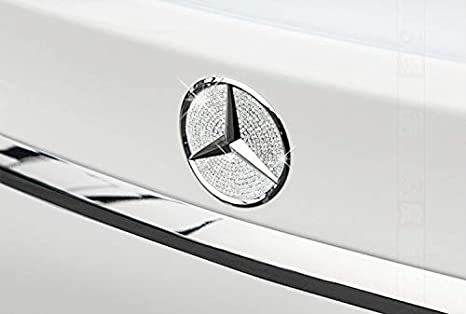Boobo MBBR01C Ice Out Rear Trunk Badge Bling Insert Emblem with Genuine  Austrian Crystal Insert for 71c021a4ef7f