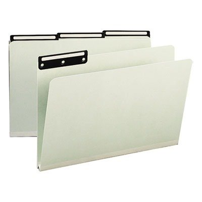 Cut Pressboard File Metal Tab (Smead Pressboard File Folder, 1/3-Cut Tab Flat Metal, 1