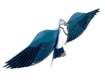 - Jackite Assembled Blue Jay Bird Kite, Wind Sock