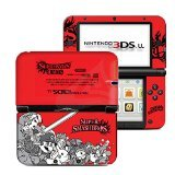 Super Smash Bros. Red Limited Edition VINYL SKIN STICKER DECAL COVER for Nintendo 3DS XL / LL Console System (Smash Super Bros Decal)
