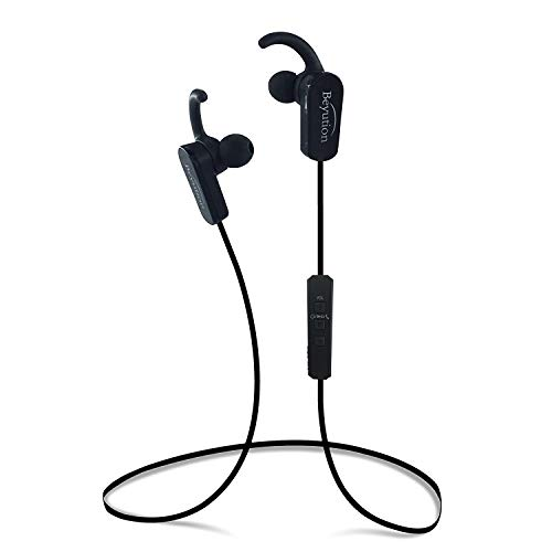 Beyution@ New Sport Wireless Bluetooth Stereo Earbuds Headphones with in-Line Microphone, Black Color