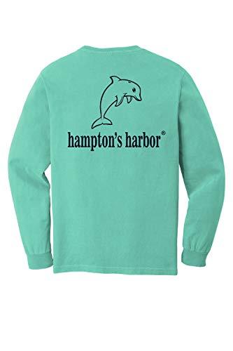 Hampton's Harbor Mens Cotton Graphic T-Shirt (Chalky Mint, Medium)