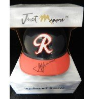 Signed Lombard, George (Richmond Braves) Just Minors Richmond Braves Mini Helmet - Shop Lombard
