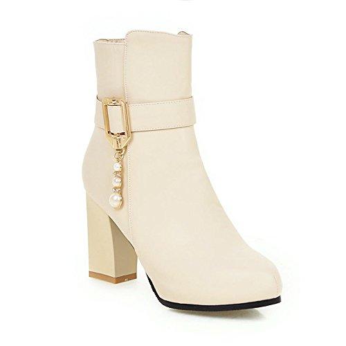 Imitación 34 Ladies Agecc Diamantes Gruesos Hebilla Boots Cashmere Y Con Black Womens Para Beige Good Cinturón Ti Tacones Winter Luck 36 Martin Desnudos Botas De gqn4rOxq5w