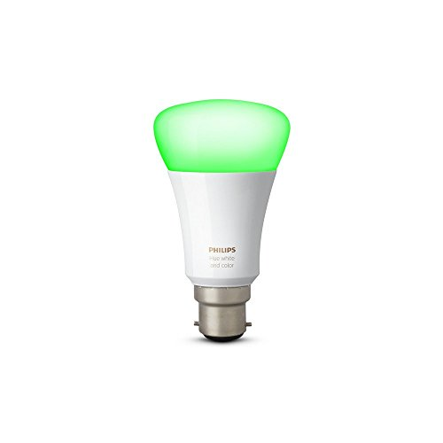 PHILIPS Hue 10W B22 Smart Bulb Compatible with Amazon Alexa, Apple HomeKit, and The Google Assistant (White and Color)