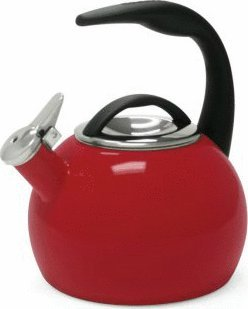 Chantal 40th Anniversary 2-Quart Enamel on Steel Teakettle, Chile Red